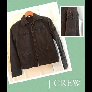 JCrew distressed utility cropped jacket
